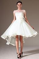 [EUR 149,99] eDressit 2014 New Sheer Top Cap-Sleeves High Low Wedding Dress (01140207)   eDressit 2014 Nouveauté Magnifique Robe de Soirée en tendance   Scoop.it