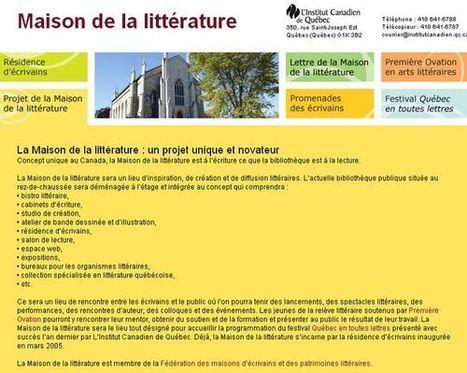 Une nouvelle Maison de la littérature pour Québec | BiblioLivre | Scoop.it