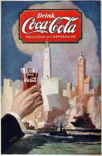 1920 Coca Cola Classic Vintage Print Ad Primary Document #1 | Consumerism & Advertisement in the 1920's | Scoop.it