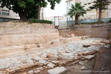 Hallan en la Plaza de la Merced de Cartagena el Decumano Máximo, un posible ninfeo y restos de una casa púnica   LVDVS CHIRONIS 3.0   Scoop.it