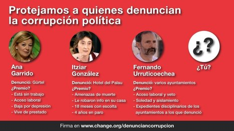Candidatos a Presidente del Gobierno: por una normativa que proteja a los que denuncian la corrupción política #denunciancorrupción | Gobernu Irekia - Gobierno Abierto - Open Government | Scoop.it