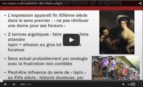 Poser un lapin | Remue-méninges FLE | Scoop.it