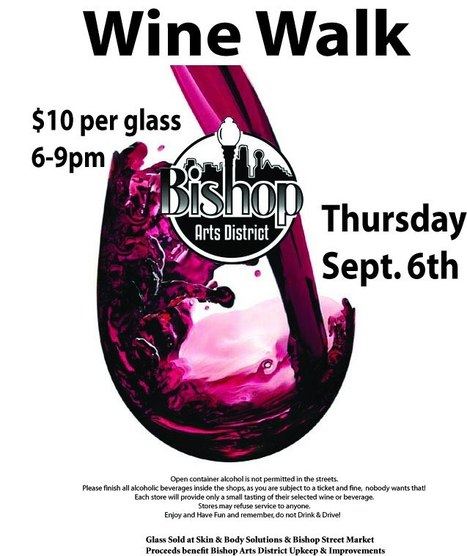 Bishop Arts District First Thursday Wine Walk!!! Tomorrow night | aCommunityAffair Oak Cliff | Scoop.it