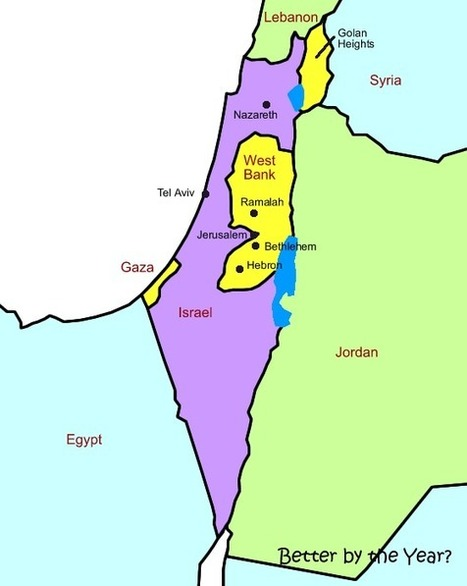 Map of Palestine, Isreal, and their Surroundings | Burned Alive: Honor Killings | Scoop.it