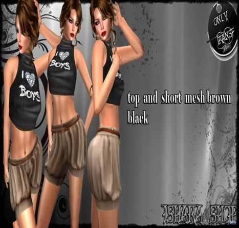 I Love Boy Top and Shorts Group Gift by Ishara Shop | Teleport Hub - Second Life Freebies | Second Life Freebies | Scoop.it