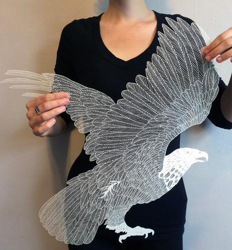 Extremely delicate hand cut paper art by Maude White | creative photography | Scoop.it