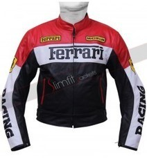 Ferrari Red and Black Biker Motorcycle Leather Jacket | Motorcycle Leather Jackets For Men and Women | Scoop.it