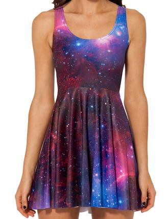 2014 New Fashion Starry Sky Sleeveless Skater Hot Galaxy Dress - Dresses Code: 1326204 - Cheap Wholesale Price at ClothesCheap.com | Asian Beautiful Girl | Scoop.it