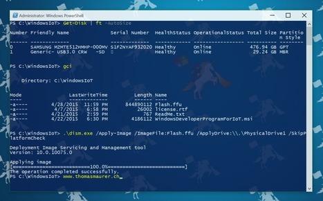 How to install the Windows 10 IoT Core on the Raspberry Pi 2 | Thomas Maurer | Arduino, Netduino, Rasperry Pi! | Scoop.it