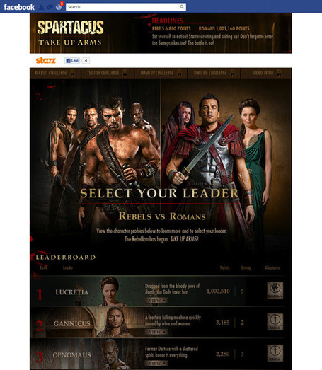 How STARZ is using social TV with 'Boss' and 'Spartacus' | QUEERWORLD! | Scoop.it