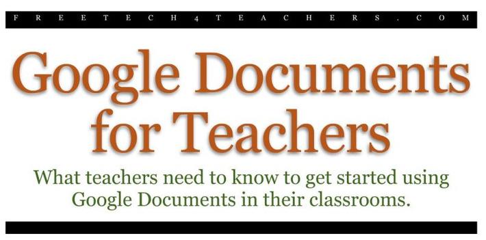 Free Technology for Teachers: Google Docs voor leerkrachten - Een gratis eBook | Edu-Curator | Scoop.it