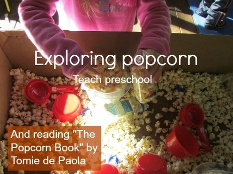 "Reading ""The Popcorn Book"" by Tomie dePaola and more popcorn action 