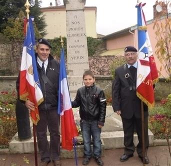 Vérin. Le Souvenir français compte désormais le plus jeune porte-drapeau de France | Souvenir français | Scoop.it