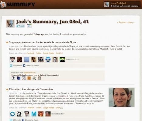 Recevoir les 5 articles les plus importants du jour, Summify | Ballajack | Time to Learn | Scoop.it