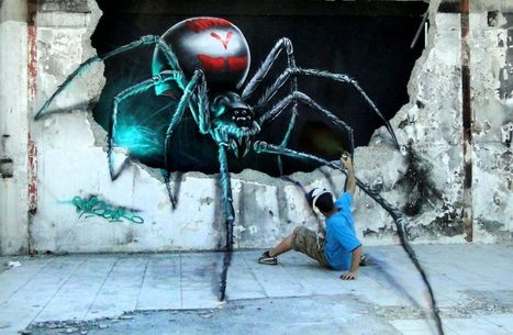 Attack of the Giant Spider! Watch This Optical Illusion Mural Come to Life | Web Explorer | Scoop.it