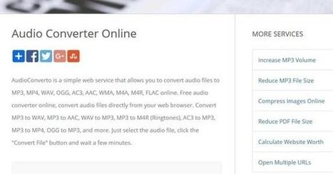 AudioConverto : un service en ligne de conversion audio | Freewares | Scoop.it