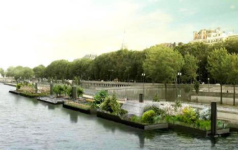 Paris : Le jardin flottant des berges se dévoile | biodiversité en milieu urbain | Scoop.it