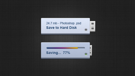 Pen Drive Style Save Buttons Psd file | The Official Photoshop Roadmap Journal | Scoop.it