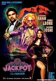 Sunny Leone & Sachiin J Joshi Jackpot Movie Official Poster First Look HD   bollywoodfunia.com   Scoop.it