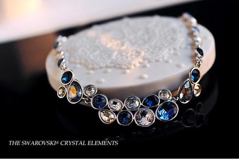 Women'sHyperbolic Swarovski Crystal Wedding Necklace | Jewellery | Scoop.it