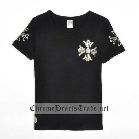 Black Chrome Hearts Diamonds Large Horseshoe Short Sleeves T-shirt [CH T Shirt] - $163.00 : Chrome Hearts Trade | Buy Chrome Hearts Online Shop | Headphones Sale Online Cheap Beats By Dre | Scoop.it