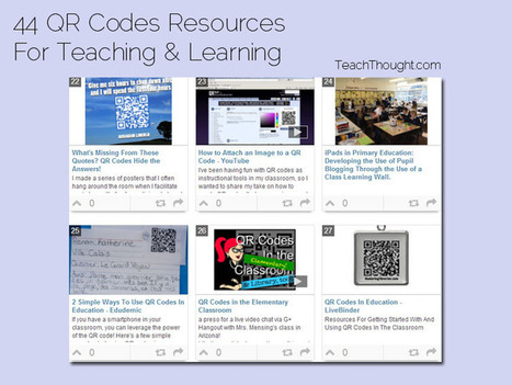 44 QR Codes Resources For Teaching & Learning - TeachThought | New to iPads in Education | Scoop.it