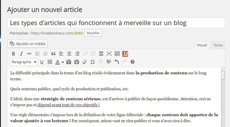 Les articles de blog qui plaisent aux Internautes | Content Marketing | Scoop.it