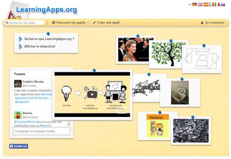 Créer des modules interactifs en ligne pour apprendre avec LearningApps | Appren-tissages connaissances et compagnie | Scoop.it