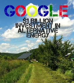 Google: $1 billion Investment In Alternative Energy - Infographic - SurvivalRenewableEnergy.com | Investing in Renewable Energy | Scoop.it