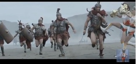Cheerleader assaults centurion? Must be a new Samsung ad | Public Relations and Brands | Scoop.it