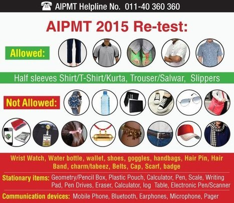 AIPMT 2015 Re-test: Report in open slippers and not the shoes, says CBSE dress code | Careers Tips | Scoop.it