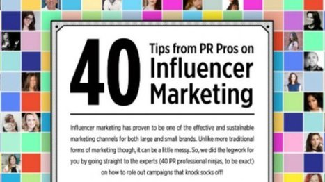 40 Public Relations Tips From Pros On Influencer Marketing | Social Media PR Public Relations | Scoop.it