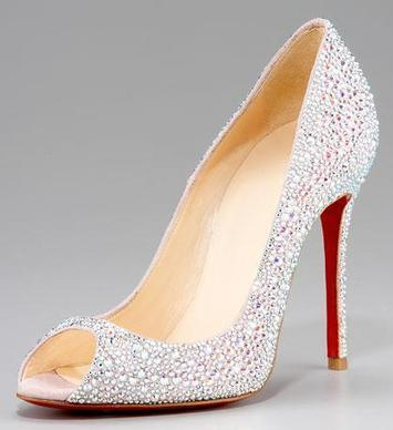 Christian Louboutin Crystal Encrusted Suede Strass Pump | Designer Crystal Shoes for Women | CrystalHeels.com | Scoop.it
