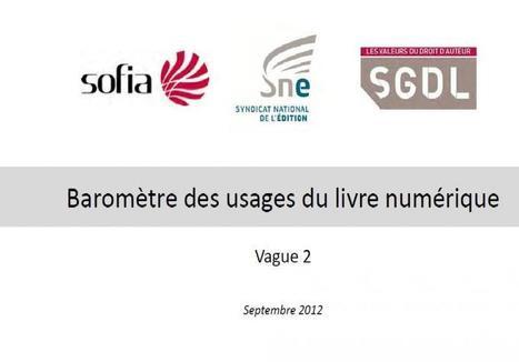 Le nouveau baromètre des usages du livre numérique | Enssib | Numérique et dys | Scoop.it