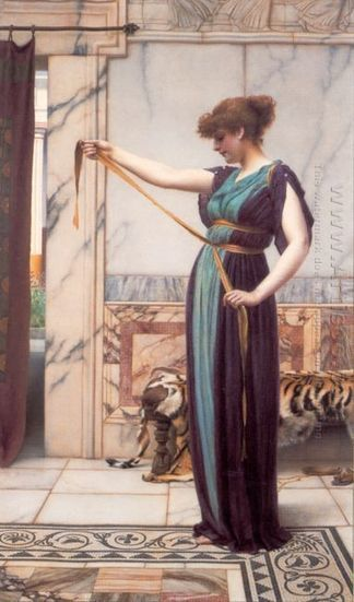 Oil painting reproduction: John William Godward A Pompeian Lady - Artisoo.com | arts&oil | Scoop.it