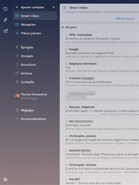 Mail : Spark pour iPad est disponible | Applications Iphone, Ipad, Android et avec un zeste de news | Scoop.it