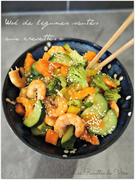 Wok de légumes sautés aux crevettes | Les Recettes de Vero | Mynspiration cuisine | Scoop.it