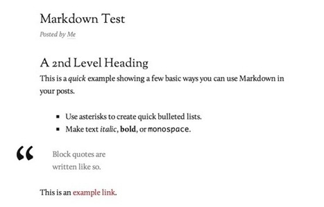 Write (More) Effortlessly With Markdown | Wordpress-Core-Capability | Scoop.it
