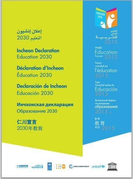 Foro Mundial sobre la Educación 2015 - Declaración de Incheon | RedDOLAC | Scoop.it