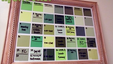 Turn Paint Chips into a Dry Erase Calendar | Crafts to Try | Scoop.it