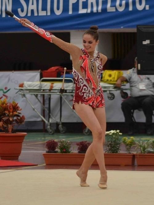 La gimnasta Cynthia Valdez estuvo en Aguascalientes