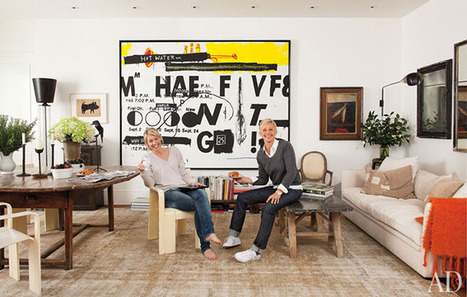 Ellen DeGeneres and Portia de Rossi at Home:  ARCHITECTURAL DIGEST | TonyPotts | Scoop.it