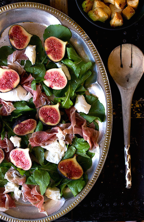 Arugula Salad with Figs, Buffalo Mozzarella, and Ham | Le Marche and Food | Scoop.it