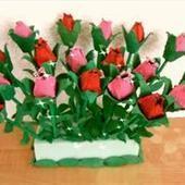 Tulipe en bo te d 39 oeuf en carton activit - Comment faire des fleurs avec des boites a oeufs ...