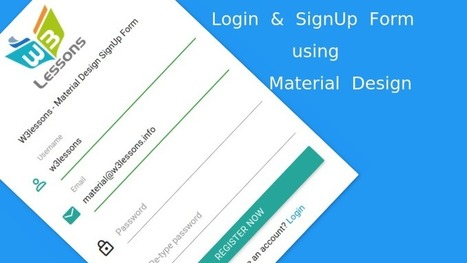 Login & SignUp form using Material Design and jQuery | W3lessons.info | W3lessons | Scoop.it