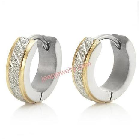 Wholesale Gold rim steel earring with diamond detail - $ 2.60 : Steel Jewelry Steel Earrings | How to choose an ideal jewelry for your lover | Scoop.it
