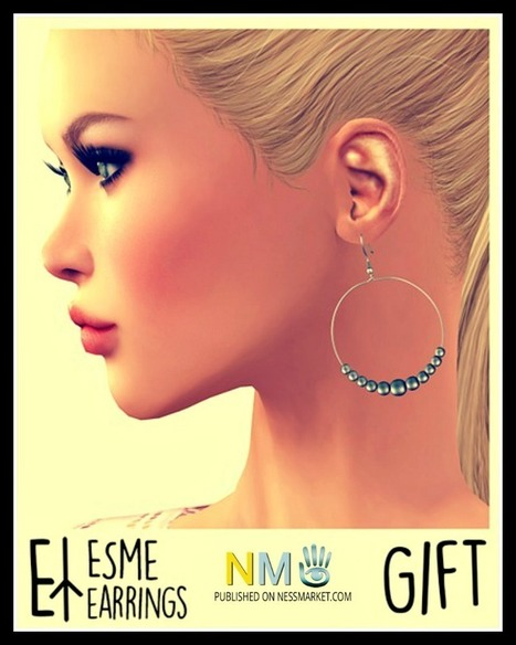 Euphorie Esme Earrings SL Marketplace Gift - NessMarket | Second Life Freebies and bargains | Scoop.it