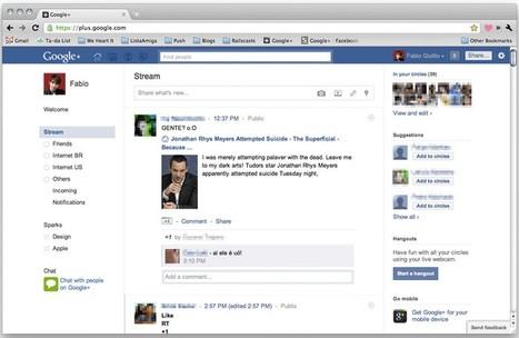 Accéder à Google + avec un look Facebook | Adopter Google+ | Scoop.it