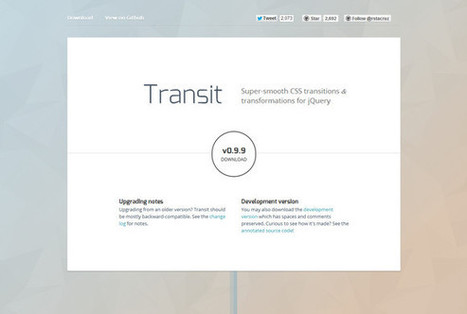 Super Smooth CSS Transitions for jQuery | Web Design and Related | Scoop.it