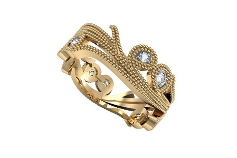 Buy Floral Twiner Ring | Diamond Solitaire Ring | Scoop.it
